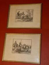 2x Grafik Kupferstich Bodenehr Rugendas Ridinger Türkenkriege Reiter Soldat 1700