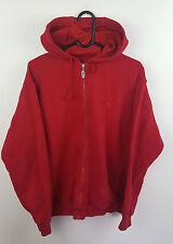 Homme Vintage Rouge Fila Athletic Sports Zip-up Survêtement Haut Veste Très bon état UK M
