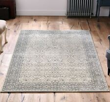 Traditional Fade Cream / Grey-Beige Egyptian Soft Woven Natural Rugs 200x285cm
