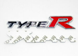 1 x Honda Type R Black / Red Rear Truck Sticker Badge Metal Emblem Logo