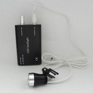 LED de la lámpara ligera para Dental 3W quirúrgico binocular Médico Lupa Negro