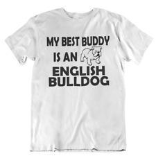 Best Buddy Bulldog Pet Owner Adult Shirt Short Sleeve Mens Womens Top tshirt