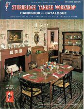 Sturbridge Yankee Workshop 1971-72 Handbook  & Catalog Early American Home Items