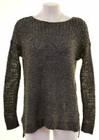 HOLLISTER Womens Crew Neck Jumper Sweater Size 10 Small Grey Oversized CP06