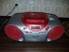 Cd Radio Casseten Recorder Panasonic pink, Batteriebetrieb möglich, tragbar