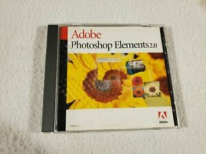 Adobe Photoshop Elements 2.0 CD With Serial Number S/N SHIPS FAST/FREE #65