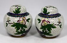 Pair of Cloisonne Ginger Jars