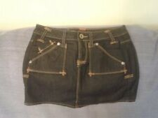 Womens Size 6 (24) - Blue Stretch Denim Mini Skirt - Guess