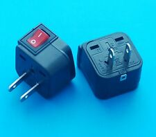 UK AUS EURO to Canada Japan USA Universal Travel Adapter AC Power Plug Switch