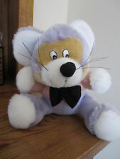 MOUSE STUFFED ANIMAL WITH WHISKERS & BOW TIE