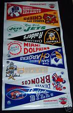 1966 AFL Pennant Flag Set uncut plastic vinyl sheet Kansas City Chiefs Cheifs