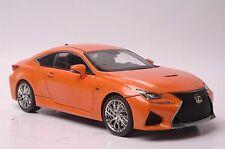 Lexus RCF car model in scale 1:18 orange