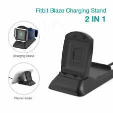 New  2 in 1 Stand Replacement Cradle Dock For Fitbit Blaze Charger Charging