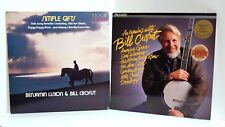 """1980s """"An Evening with Bill Crofut"""" """"Simple Gifts"""" Luxon 2-Pack Mint Stereo LPs"""