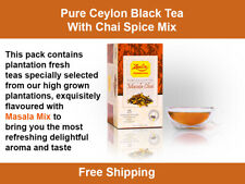 Masala Chai Pure Ceylon Tea 25 Tea Bags, Black Tea with chai spice mix