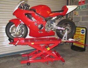 New Hydraulic Bike Motorcycle Motorbike Service Shop Lift Ramp Table Bench