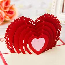 Christmas Anniversary Valentine's Day Holiday Season Heart Shaped Greeting Card