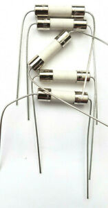 Fuse 1.25a 250v Antisurge HBC Ceramic 20mm x 5mm T1.25a H 250V Axial Leads x5pcs
