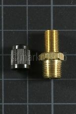 "[x1] 1/8"" NPT MPT Brass Air Compressor Tank Fill Valve Schrader NEW"