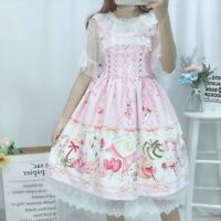 Lady Lolita Jumper Dress Lace Ruffle JSK Japanese Cute Rabbit Kawaii Girls Sweet
