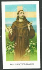 Estampa de San Francisco de Asis santino image pieuse andachtsbild holy card