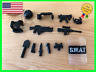Custom LEGO SWAT Guns Weapons Pack Minifigure Army Military Police Accessories