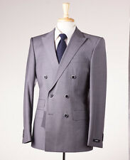NWT $895 HUGO BOSS Gray Houndstooth Modern-Fit Wool Suit 38 R Darrington/Knight