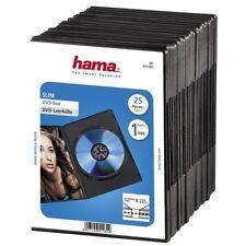 HAMA Custodie DVD Slim Case SINGOLE Nere 1 posto, confezione 25 pezzi - H51182