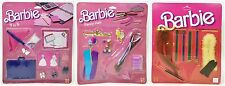 SET OF 3 BARBIE FINISHING TOUCHES 9 TO 5 FANCY HAIR &  ACCESSORIES (1984) NIP