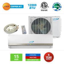12000 BTU Mini Split Air Conditioner Ductless Heat Pump Inverter 15 SEER 1 TON