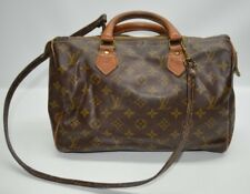 Louis Vuitton Vintage French Company Monogram Speedy 30 With Shoulder Strap