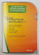 Office 2007 Home and Student CD Vollversion Deutsch 79G-00044 3 PCs Family Pack