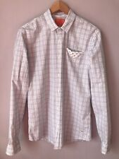Scotch & Soda Plaid Slim Fit Men's Button Front Shirt L