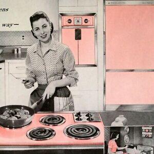 1957 Frigidaire Built-In Stove Ovens Dishwasher Disposer Vintage Print Ad