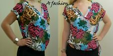 NEXT NEW UK 14 LADIES FLORAL ADJUSTABLE WAIST SUMMER BLOUSE TOP