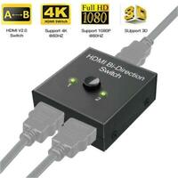 HDMI 2.0 HDTV Switch Switcher Splitter Bi-Direction Hub HDCP 2x1 1x2 In Out 4K d