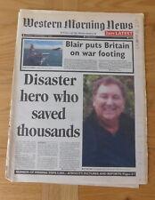 historic newspaper - 9/11 disaster hero Rick Rescorla - WMN Mon 17th Sept 2001