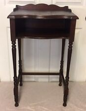 Antique Wooden Spindle Side End Table / Telephone Stand - Nice!