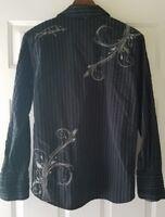 Jimi Hendrix Experience Purple Label Mens Small Black Button Up Shirt