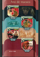 Sao Tome & Principe 2015 MNH Year of Monkey 2016 4v M/S Chinese Lunar New Year