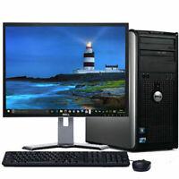 Super Fast Dell Desktop Tower Core2Duo 2.6-3.3GHz, SSD,WIN 10/7/XP Pro,LCD,KB&MS