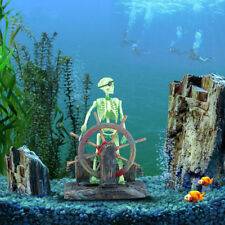 Action-Aquarium Skeleton Pirate Captain Fish Tank Landscape Ornament Decoration