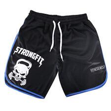 Men Gym Shorts Fitness Bodybuilding Short Pants Beach Shorts Elastic Waist Short