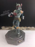 "VINTAGE 1998 Star Wars Lucas Film BOBA FETT Figure Statue Hasbro Rotating 6"""