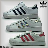 👟 Adidas Originals SUPERSTAR Child Size UK 10 10.5 11 12 13 Girls Boys Trainers