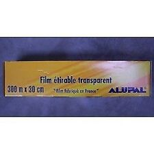 FILM ETIRABLE TRANSPARENT alimentaire 300 mtr largeur 30 cm fabrication FRANCE
