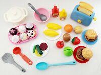 Fisher Price Little Tikes Play Pretend Fun Food Lot Utensils Fruit Burgers