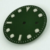 31.3MM Green Watch Dial Luminous Fit For Miyota 8215 8205 Mingzhu 2813 Movement