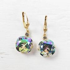 Gp Large Round Crystal Earrings Paradise La Vie Parisienne Catherine Popesco 14K