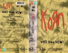 KORN - WHO THEN NOW? - VHS - PAL - NEW - Never played - Original Oz release